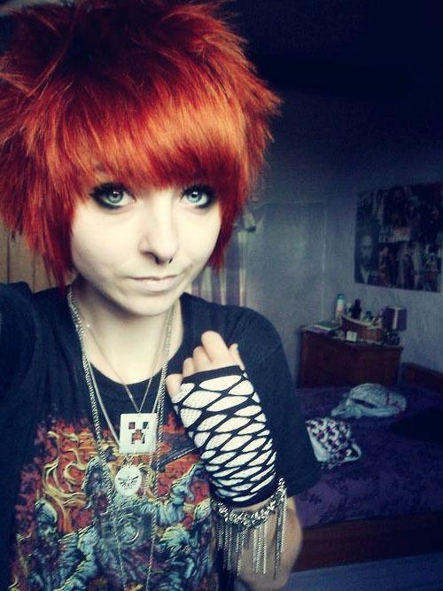 emo girl hair short