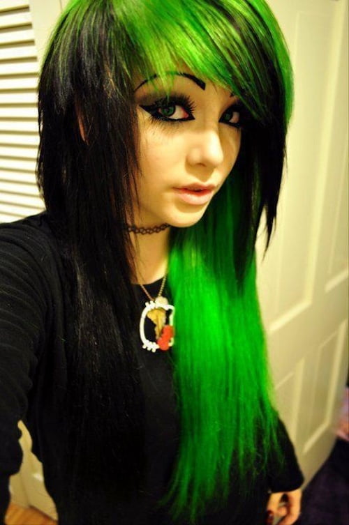 green hair styles 62 spectacular hairstyles for amp medium hair 5445
