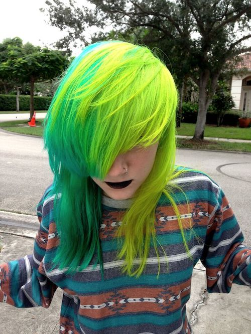 green scene hair