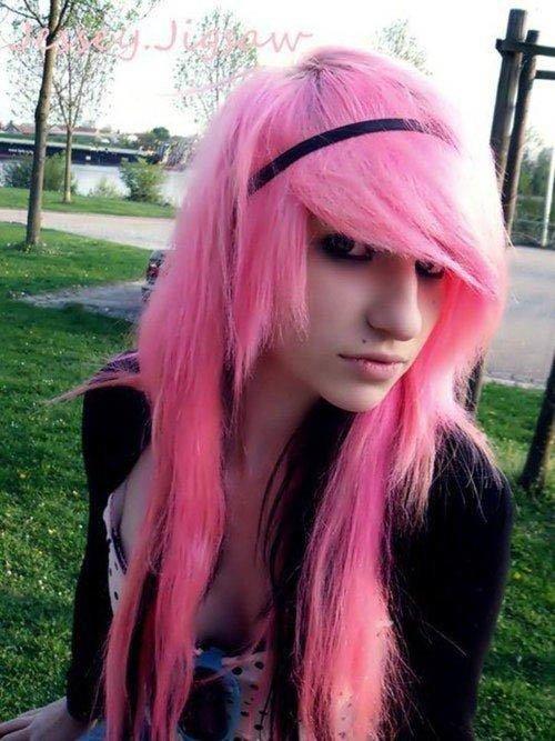 scene pink hair
