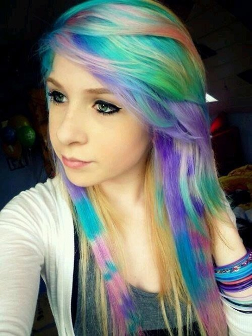 rainbow scene hair