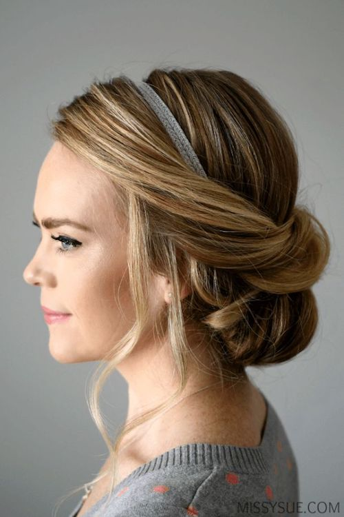 51 Easy Updos For Short Hair to Do Yourself