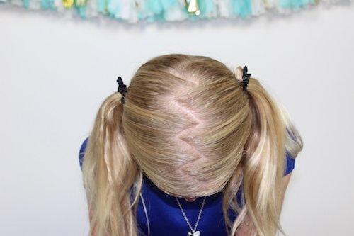 zig zag ponytail