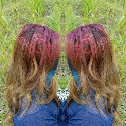 nature inspiried graffiti hair