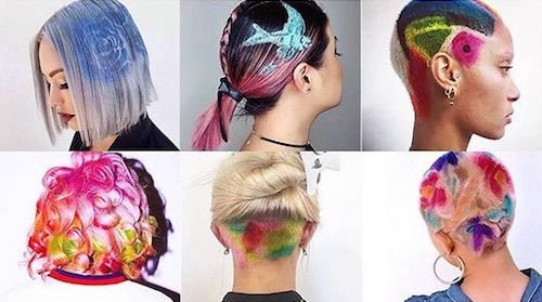 graffiti hair