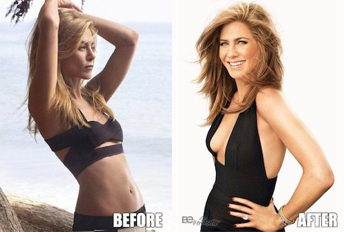 jennifer aniston boob job before and after