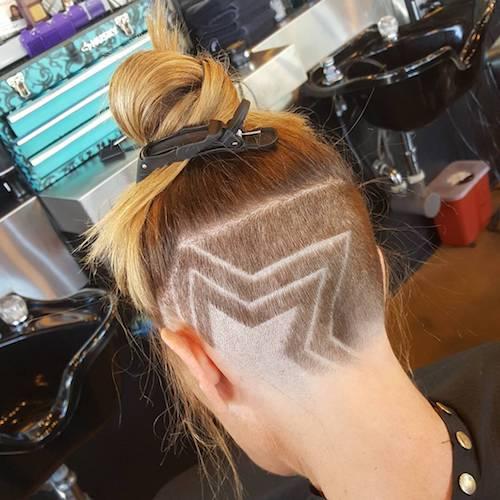 shaved star haircut