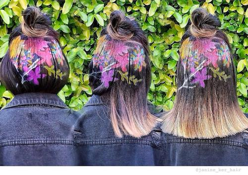 nature inspiried stencil hair
