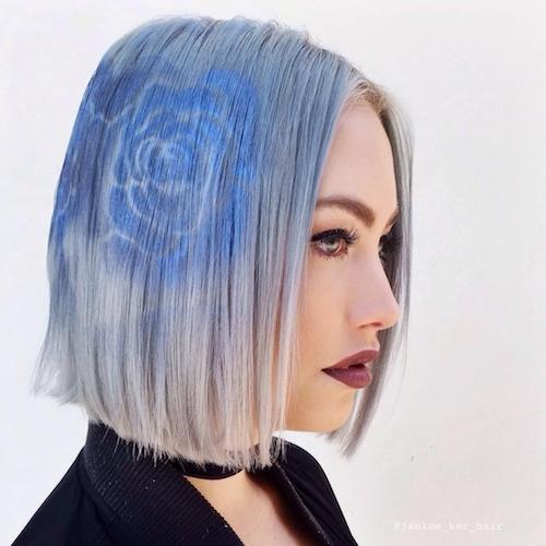 blended stencil hair