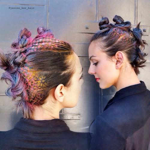 colored crown stencil hair