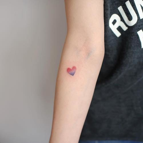 arm mini tattoo heart