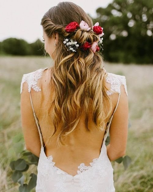 backless wedding hairstyle