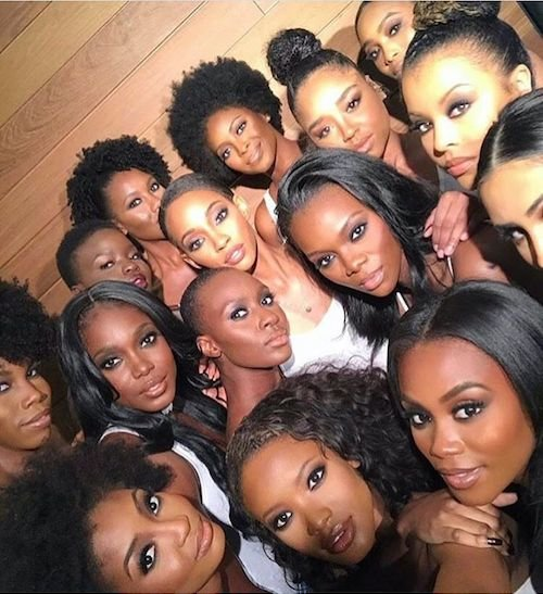 Women of color facial