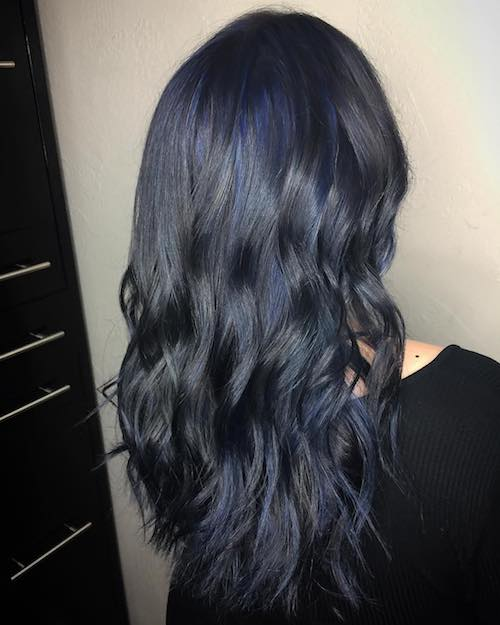 Dark Blue Hair Color