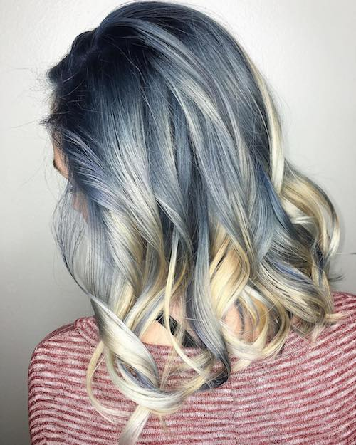 denim hair blonde blue