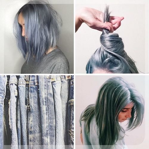 denim hair color and jeans