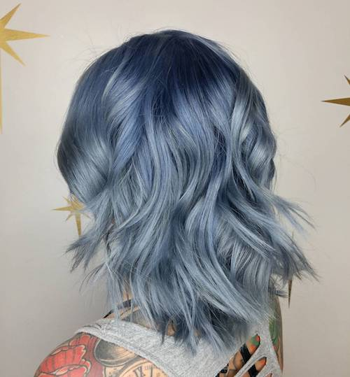 denim hair gray blue