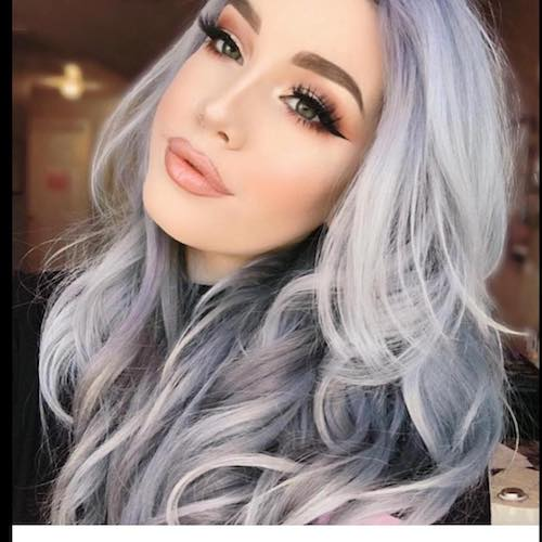 denim hair silver blue