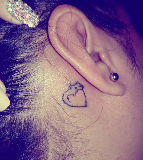 ear mini tattoo kitty
