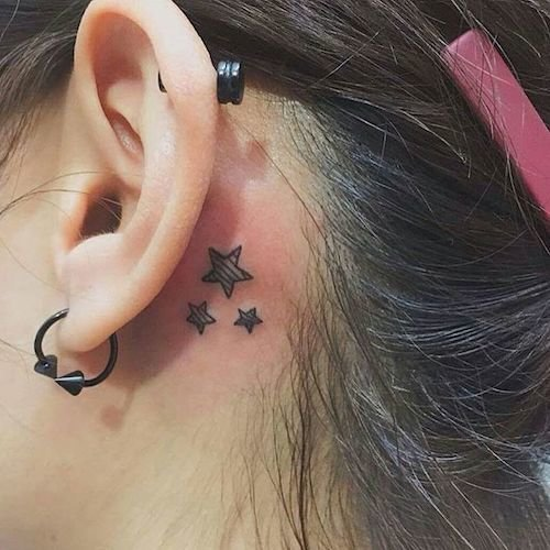 ear mini tattoo stars