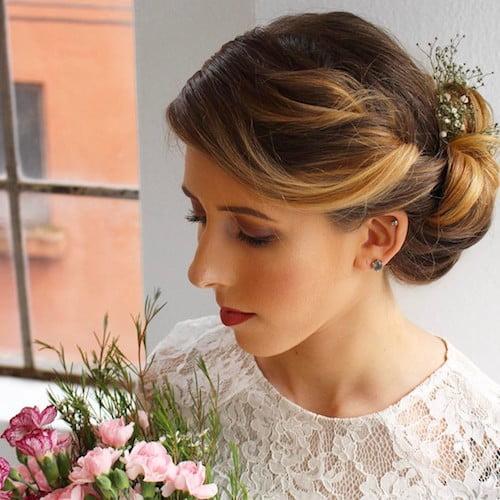 high neck wedding hairstyle