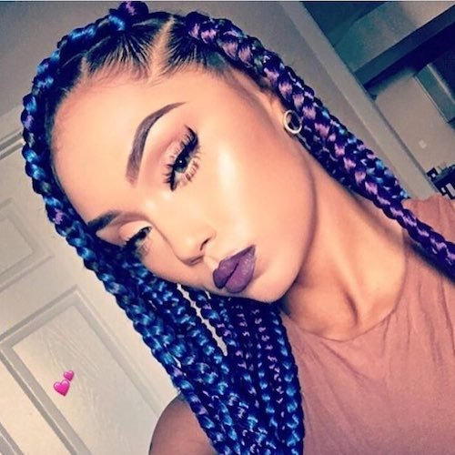 purple hair color for dark skin