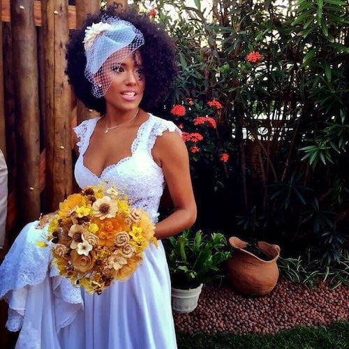 afro wedding hairstyles for black women