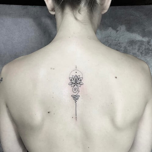 unalome back tattoo meaning