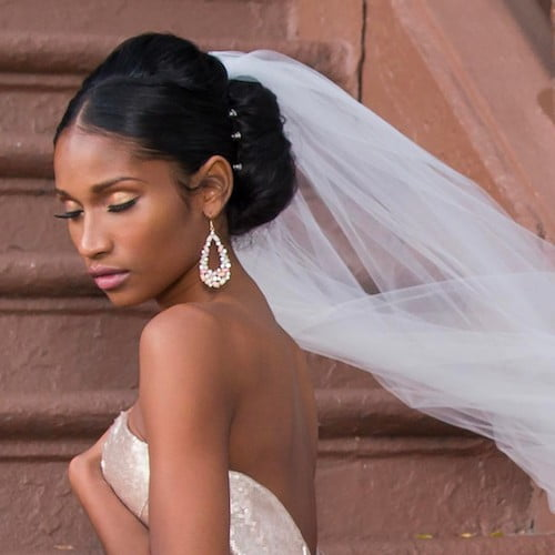 bun wedding hairstyles for black women