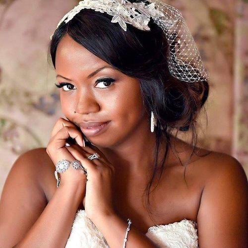 chignon wedding hairstyle for black women