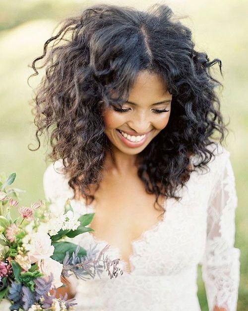 Wedding Hairstyles Down Curly: 41 Wedding Hairstyles For Black Women To Drool Over 2018
