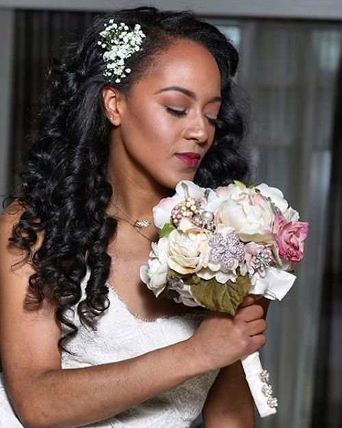 curly wedding hairstyles for black women 3