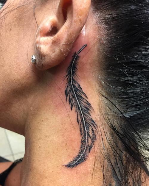neck feather tattoo meaning