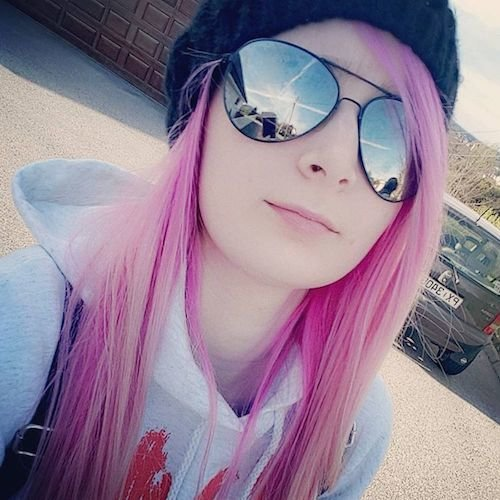 long straight taffy pink hair color