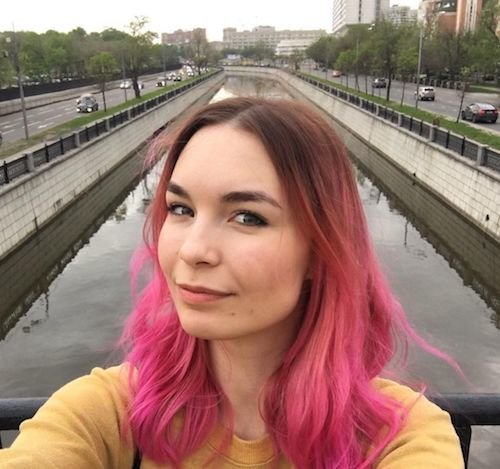 neon pink ombre hair color