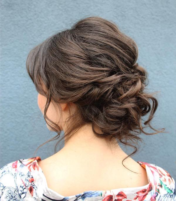 Quick twisted updo