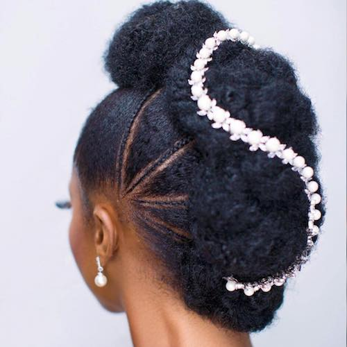 sculpted wedding hairstyle for black women 4
