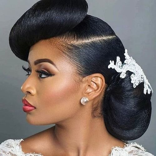 sculpted wedding hairstyle for black women 3