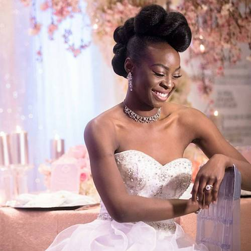 sculpted wedding hairstyle for black women 2