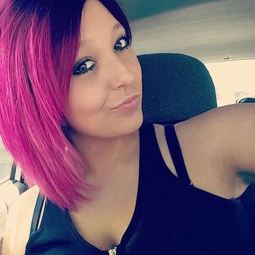 short neon pink hair color