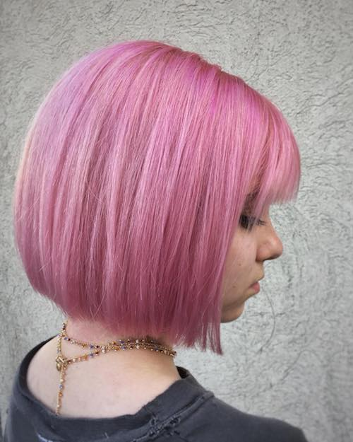taffy pink straight bob