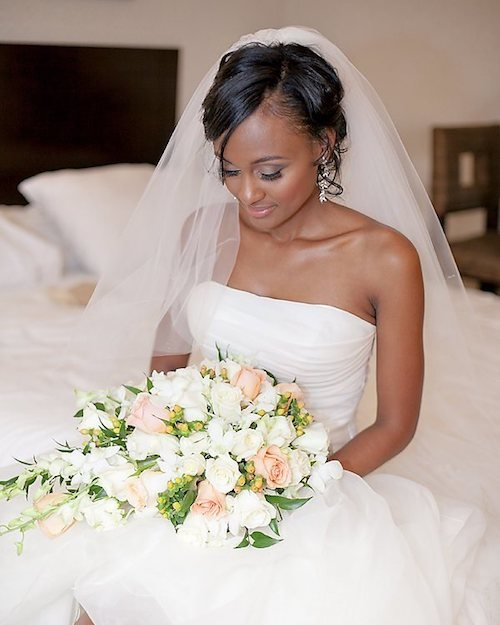 black bride updo