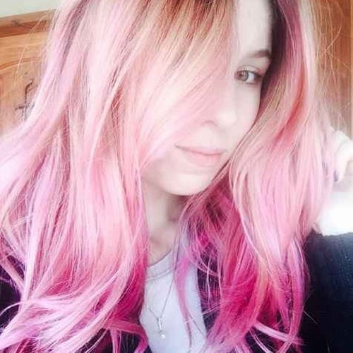 cotton candy pink hair for fair skin