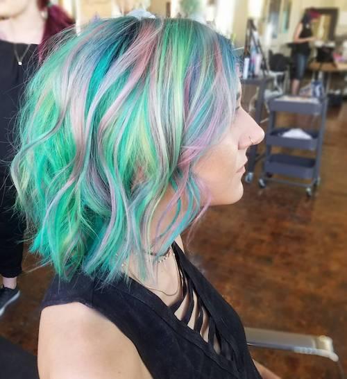 mermaid hair color for fair skin and hazel eyes