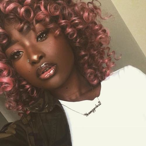 Pink Hair Color For Dark Skin Tone