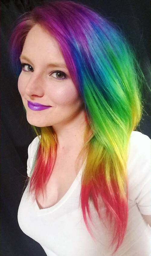 rainbow ombre for fair skin and gray eyes