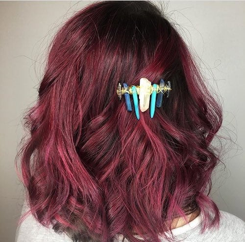 black cherry hair color for medium hair