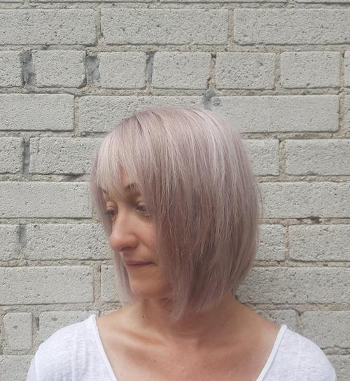 lilac hair color for women over 50
