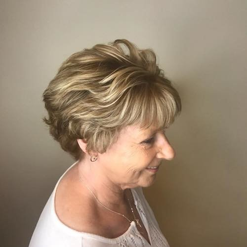 over 50 short hair color for fair skin