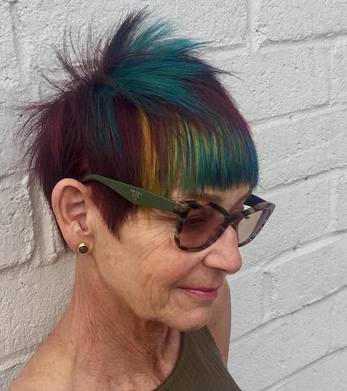 peacock hair color for women over 50